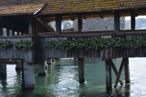 Another view of the covered bridge (Lucerne, Switzerland)