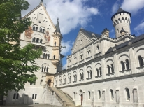 Up close to the Neuschwanstein Castle (Bavaria, Germany)
